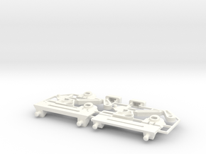 Lancia Delta rep. set FULL Instrument frame in White Strong & Flexible Polished