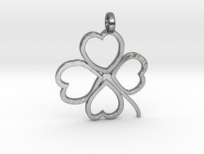Four-leaf clover in Fine Detail Polished Silver