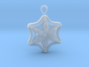 """""""In full bloom"""" Pendant in Smoothest Fine Detail Plastic"""