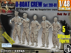 1/48 German U-Boot Crew Set201-01 in Smooth Fine Detail Plastic