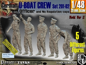 1/48 German U-Boot Crew Set201-02 in Smooth Fine Detail Plastic