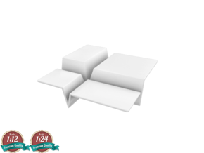 Miniature Cuts Occasional Tables - Ligne Roset in White Natural Versatile Plastic: 1:24