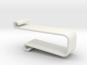 20mm table clip in White Natural Versatile Plastic