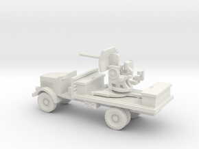 1/144 Opel Blitz with Flak in White Natural Versatile Plastic