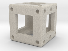 DICE - D6 - 1 cm in Natural Sandstone