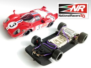 3D chassis - Fly Ferrari 512 (SW) in Black Natural Versatile Plastic