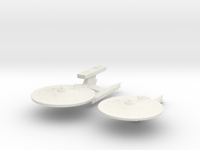 "Abbe Class HvyDestroyer 4"" and Nelson Class 3.7"" in White Natural Versatile Plastic"