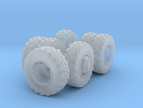 1/64 Scale 18in Off-Road Wheel Set in Smooth Fine Detail Plastic