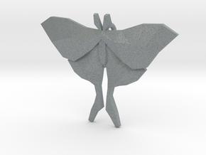Luna Moth Pendant in Polished Metallic Plastic