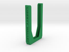 Liberty Wallet  in Green Processed Versatile Plastic
