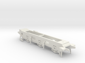 LB&SCR E2 - 9.5mm - Gauge 1 - 42mm BtoB - Chassis in White Natural Versatile Plastic