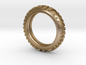 Davis High School 2017 Knobby Tire Ring! in Polished Gold Steel: 9.5 / 60.25