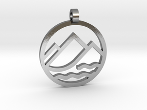 Texas 4000 Sierra Route Pendant in Polished Silver