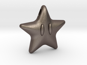 Power Star in Polished Bronzed Silver Steel