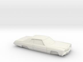 1/32 1971 Chevrolet Impala Custom Coupe in White Natural Versatile Plastic