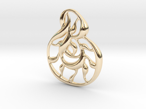 Double wave in 14k Gold Plated Brass