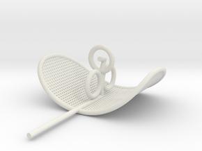 K-9 Mk1 Ear- small shaft in White Natural Versatile Plastic