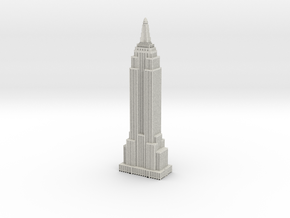 Empire State Building - White with Black Windows in Full Color Sandstone