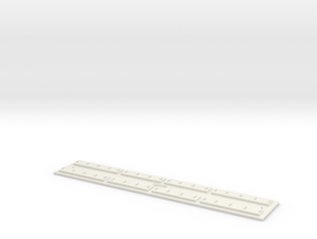 O gauge Direct F 12 track ECO in White Natural Versatile Plastic