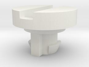 TM500 Panel Lock Button in White Natural Versatile Plastic