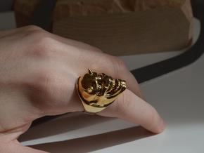 Oni Ring in Polished Brass: 8.5 / 58