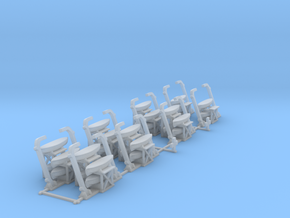 Britannic life boat Davits and crosses 1/700th in Smooth Fine Detail Plastic