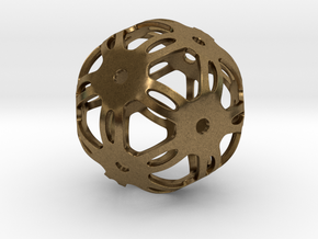 Well Rounded Symmetrical Sphere  in Natural Bronze: Medium