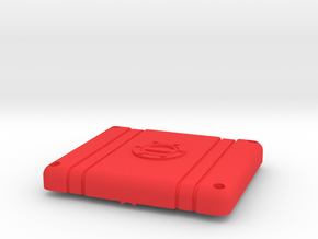 SMT10 Fuel Cell / Electronics Box - Top in Red Processed Versatile Plastic