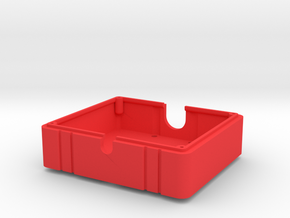 SMT10 Fuel Cell / Electronics Box - Bottom in Red Processed Versatile Plastic