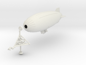 K Ship with Mobile Mooring Mast in White Natural Versatile Plastic: 1:700
