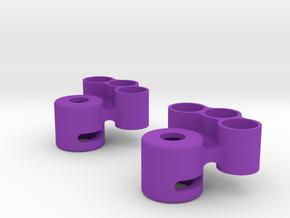 Lockout with tungsten weight holder in Purple Processed Versatile Plastic