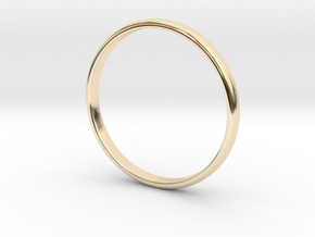Lonely Band (Various Sizes) in 14k Gold Plated Brass: 8 / 56.75