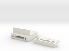 Tamiya M-07 Shorty LiPo Battery Holder in White Natural Versatile Plastic