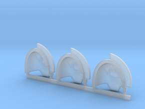 Toothed Mouth Gravus shoulder pads L in Smooth Fine Detail Plastic