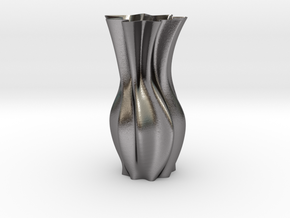 """Tall Wave Vase ( 15-30cm  /  6-12"""" ) in Polished Nickel Steel: Small"""