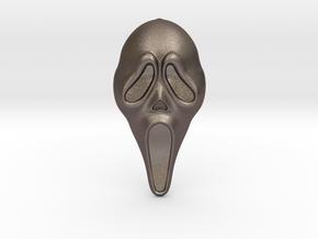 Scream Pendant - VIL in Polished Bronzed Silver Steel
