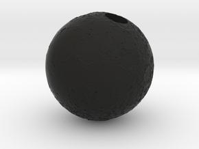 Full Silver Moon (Pendant 20mm) in Black Natural Versatile Plastic