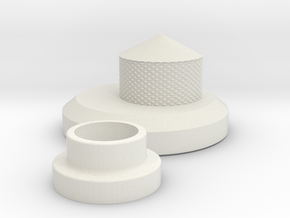 Tie Jack and Knob in White Natural Versatile Plastic