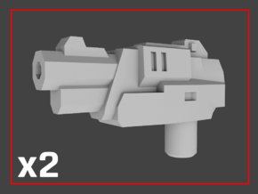 """""""Anvil"""" Transformers Weapons (5mm post) in White Natural Versatile Plastic"""