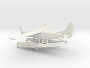 Cessna 208A Caravan Amphibian in White Natural Versatile Plastic: 1:160 - N
