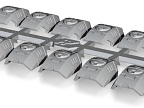 Shoulder Pads Curved Sierra 1 in Smooth Fine Detail Plastic