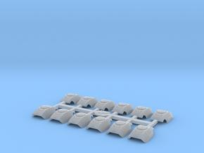 Shoulder Pads Curved Delta 2 in Smooth Fine Detail Plastic