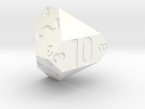d10 Edge-truncated tetrahedron in White Processed Versatile Plastic