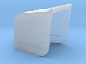 144_Curved_4_Inch_Gun_Shield in Smooth Fine Detail Plastic