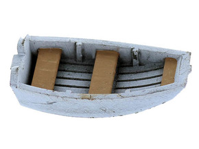 Dinghy Boat HO Scale in Smooth Fine Detail Plastic