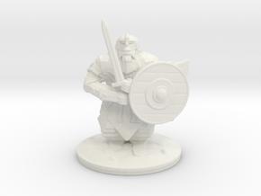 dwarf sword 28mm in White Natural Versatile Plastic