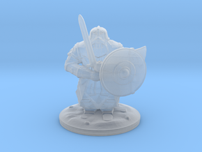 dwarf sword 28mm in Smooth Fine Detail Plastic