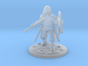 viking spear-man 2 28mm in Smooth Fine Detail Plastic
