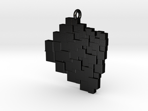 Squaring the Plane Pendant I in Matte Black Steel