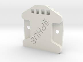 FW01 Front diffusor (2nd hole in chassis) in White Natural Versatile Plastic